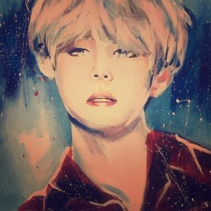 BTS MEMBER 'Jimmin'  painted by my son
